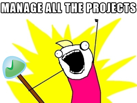MANAGE ALL THE PROJECTS!