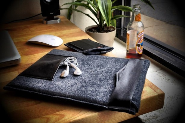 Felt and Leather iPad Sleeve